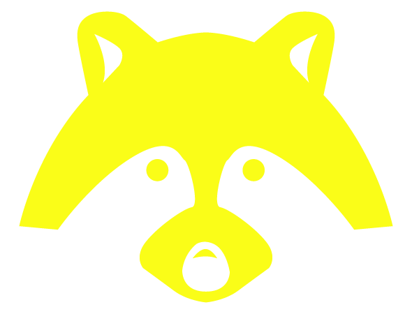 Racoon Icon Yellow PNG | Pest Detective
